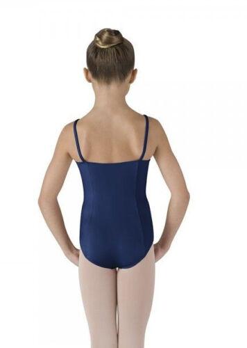 NWT Bloch Dance Dark Blue Camisole Leotard Princess Seams Med Child 8-10 CL6907