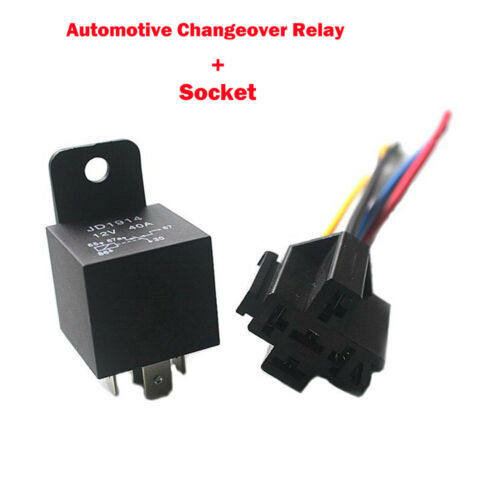 12//24V 4//5Pin KFZ Relais Schließer Relais mit Sockel /& Leitungen Kontakt Starter