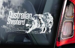 Australiano-Shepherd-On-Board-Auto-Finestrino-Adesivo-Aussie-Cane-Segno