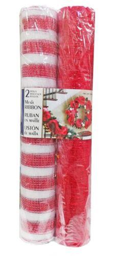 or ou argent Maille Ruban Rouleaux environ 9.14 m décorative 52 cm x 91.4 cm Roll-rouge 2 x 10 Yd
