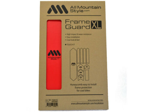 All Mountain Style AMS Frame Guard  Protection Stickers  XL Red Black