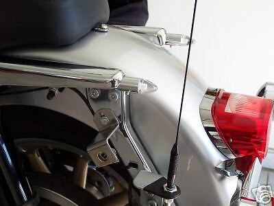 chrome Custom  Rear strut turn lights Touring Custom Fits Harley Davidson