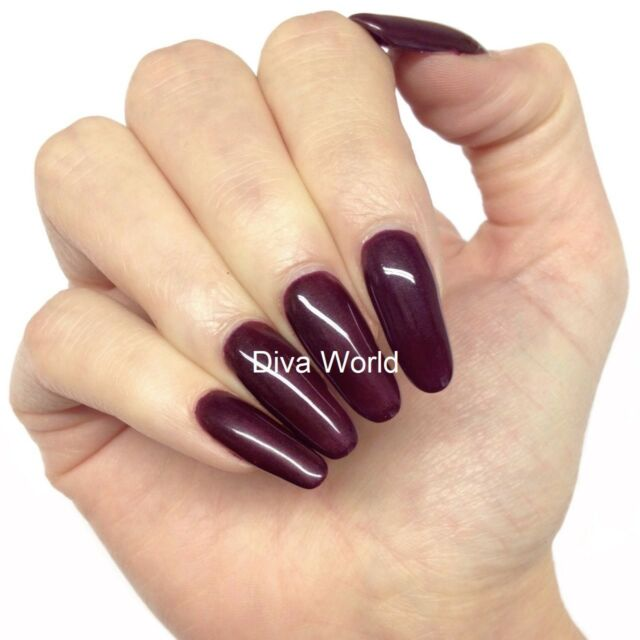 Bluesky A07 Dark Burgundy Uv Led Soak Off Gel Nail Polish 10ml Brown Shimmer