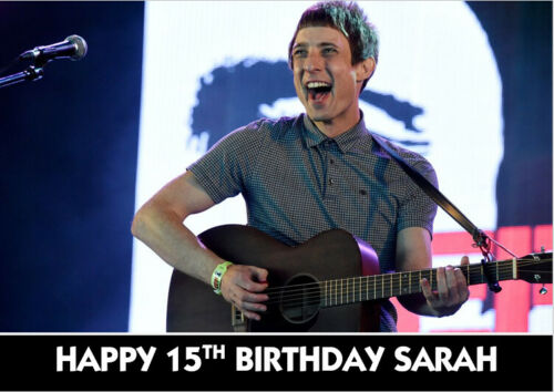 Gerry Cinnamon Guitar Birthday Card Personalised A5 with own wording