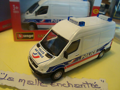 Miniature Van//Wagon Sheet Sprinter Police National B Burago 1//50° New in Box