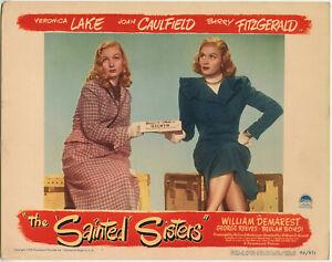 VERONICA-LAKE-JOAN-CAULFIELD-THE-SAINTED-SISTERS-Lobby-Card-1-1948-FINE