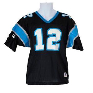 Youth Boys Wilson Carolina Panthers Kerry Collins  12 Black Jersey ... 86d5150e2