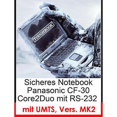 NOTEBOOK PANASONIC CF-30 MK-2 SPRITZWASSERFEST 4GB TOUCHSCREEN RS-232 UMTS MODEM