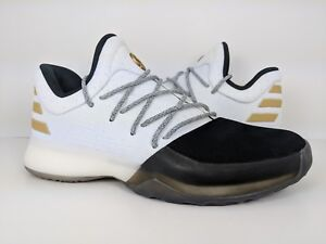 5a506978fecd Adidas Harden Vol. 1 Youth Kids Basketball Shoe Boost White Black ...