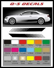 Car Side Stripe Decals Graphics Stickers BG636 Any Colour Both sides