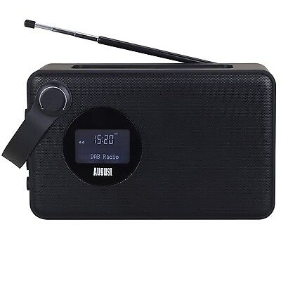August MB415 - Portable DAB Clock Radio with Wireless  NFC Bluetooth Speaker