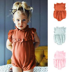 ab53727f02e1 EG  PLAIN COLOR INFANT BABY BOYS GIRLS SLEEVELESS COTTON SUMMER ...