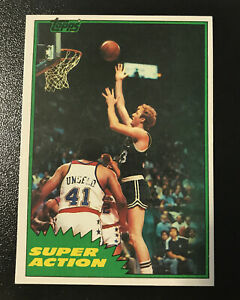 1981-82 LARRY BIRD TOPPS BASKETBALL SUPER ACTION CARD #101  NEAR MINT/MINT