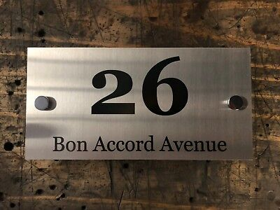 Mailbox House Farm Sign Plaque Stainless Steel Marine Grade 600mm x 200mm