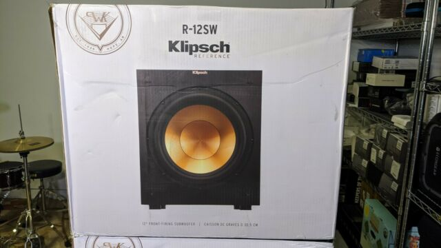 "Klipsch R-12SW Powered Subwoofer Black Veneer 12"" 400 Watts Front Firing Sub"
