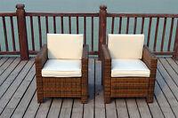 Single Chairs Rattan Wicker Conservatory Outdoor Garden Furniture Set