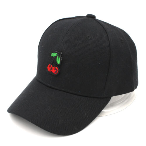 Unisex Dad Hat Black Baseball Cap Cotton Snapback Hats Adjustable Fruit Style
