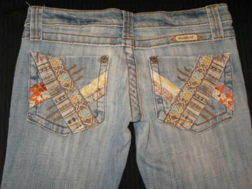 Bootcut Jeans Poches B Frankie Bas 4 Patchwork Distressed Sz twXUxxq