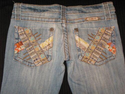 Sz Bootcut Frankie 4 Jeans B Distressed Poches Patchwork Bas 7qxRx01Pw