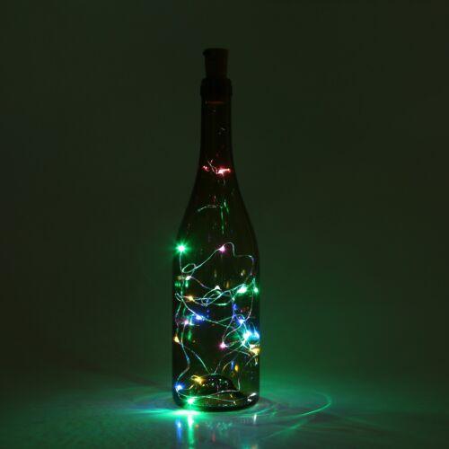 Batterie 2M 20 LEDs Weinflasche Kork Lichter LED Flaschenlichter Lichterketten