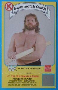 Details about 1987 Circle K Coca-Cola HACKSAW JIM DUGGAN Wrestling Card WWF  Supermatch EX/MINT