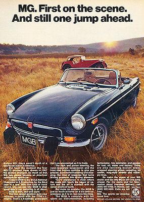 1964 MG MGB Monte Carlo Original Advertisement Print Art Car Ad J683