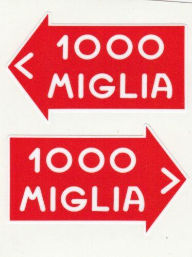 paire Sticker 1000 MIGLIA 75mm x 45mm