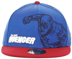 675b7cf22ca15 New Era Marvel Captain America First Avenger Outline 59Fifty Fitted ...