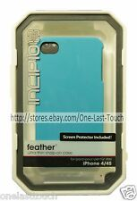 INCIPIO* Ultra Thin FEATHER Snap-On Case FOR iPHONE 4/4S w/Screen Protector BLUE