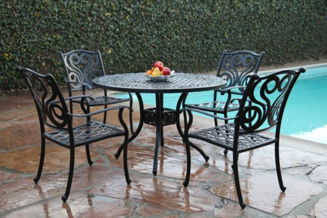 outdoor patio cast aluminum furniture 5 piece dining set g - Cast Aluminum Patio Furniture