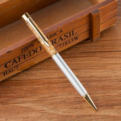 2pcs Gold Powder Crystal Hourglass Gift Ballpoint Pen Business School Student
