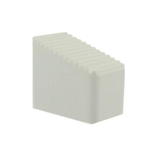 Fusskappe 33 x 20mm weiß 15° schräg Stuhlkappen Fußkappen Liegen Gartenmöbel