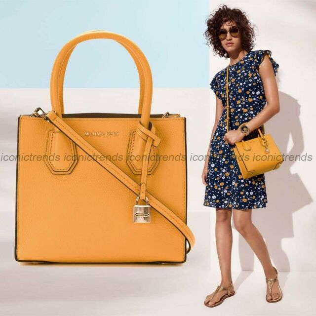 90ac94846cb6a0 Michael Kors Mercer Studio MD Messenger Leather Bag Marigold for ...