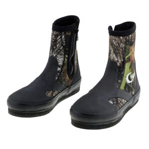 Fishing-Wading-Boots-with-Felt-Sole-Zipper-Waterproof-Upstream-Shoes-US-6-12