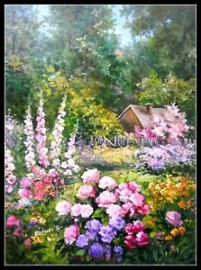 Chart-Needlework-Crafts-DIY-Counted-Cross-Stitch-Patterns-Spring-Garden-2