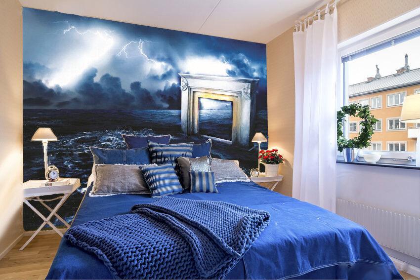 3D Elektrische Licht Wellen 794 Tapete Wandgemälde Tapeten Bild Familie DE Lemon