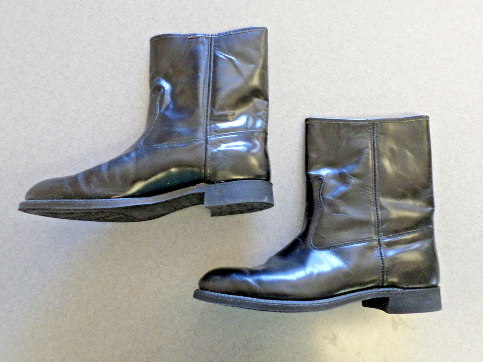 Knapp black leather, 10 in. tall, dress boots, Men's 13 C made in USA