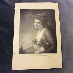Antique-Book-Print-Lady-Hamilton-as-039-Nature-039-Romney-1911