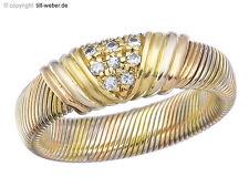 "Cartier Ring Vintage ""Diamanten"" 750er Gold Mehrfarbig ca. 1950-60"