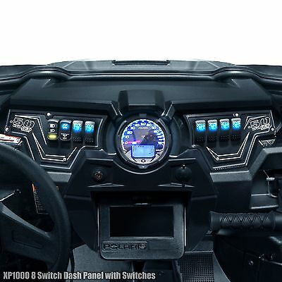 6 Switches Black Powdercoated Polaris RZR XP1000 2 Piece Dash Panel Includes