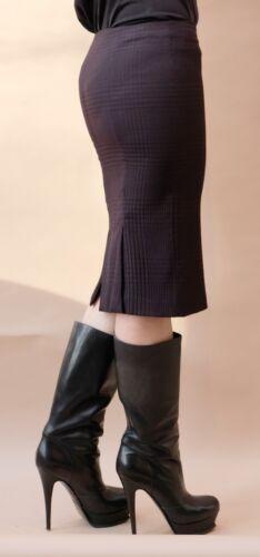 Xs Wool Skirt Check Size plum Mcqueen Purple 38 Alexander Tartan RZgqvwx