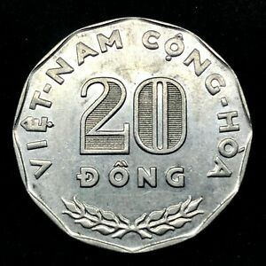 1968-Vietnam-STATE-OF-SOUTH-VIETNAM-20-Dong-KM-10-FAO-issue-BU-Coin