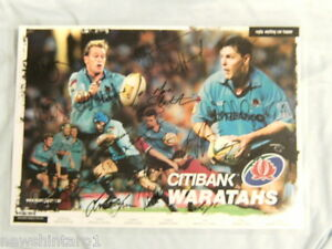 RUGBY UNION LAMINATED POSTER, NSW WARATAHS, SIGNATURES