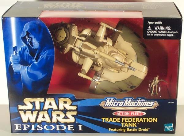 STAR WARS ACTION FLEET TRADE FEDERATION TANK AAT MIB EPISODE 1 I