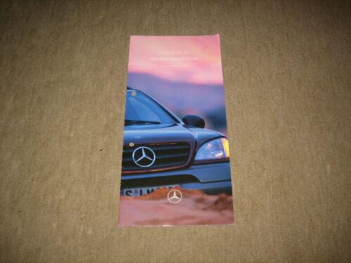 14 pages Mercedes Classe M BR 163 liste des prix price list de 08.09.1997