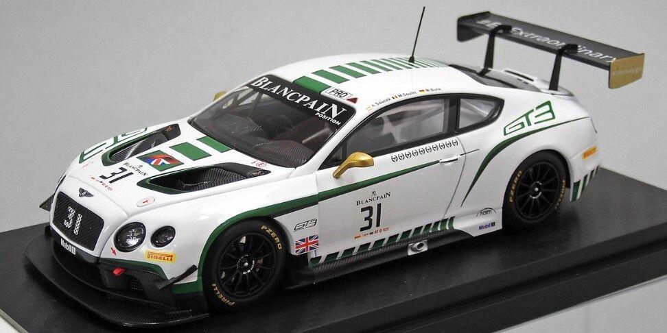 autentico en linea AL430304 casi casi casi real 1 43 Bentley GT3 blancopan resistencia serie Nurburgring  31  últimos estilos