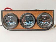 Vintage Sunpro Suntune Triple 2 Gauge Combo Oiltempamps For Hotrod Muscle Car