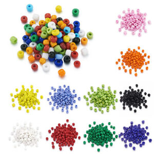 650 beads Glass Seed Beads 6//0 Mixed Assorted Colors Opaque 4mm BD1312 50g