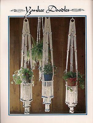 Macrame Fringe Plant Hanger Pattern BOOK ONLY #Z07 Juliano/'s Hang It All Book 3