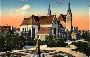 Augsburg-Bayern-Schwaben-1910-Dom-Unserer-Lieben-Frau-Kathedrale-Kirche-Totale